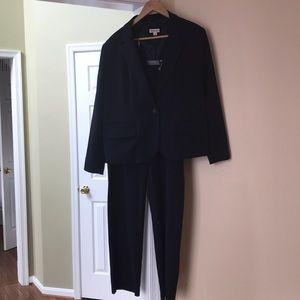 Dark Blue Matching Pant Suit - Size 18